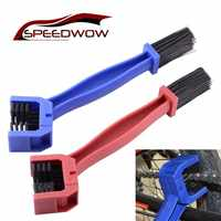 SPEEDWOW Plastic Cycling Motorcycle Bicycle Chain Clean Brush Gear Grunge Brush Outdoor Chain Dirt Remove Tool For Road MTB