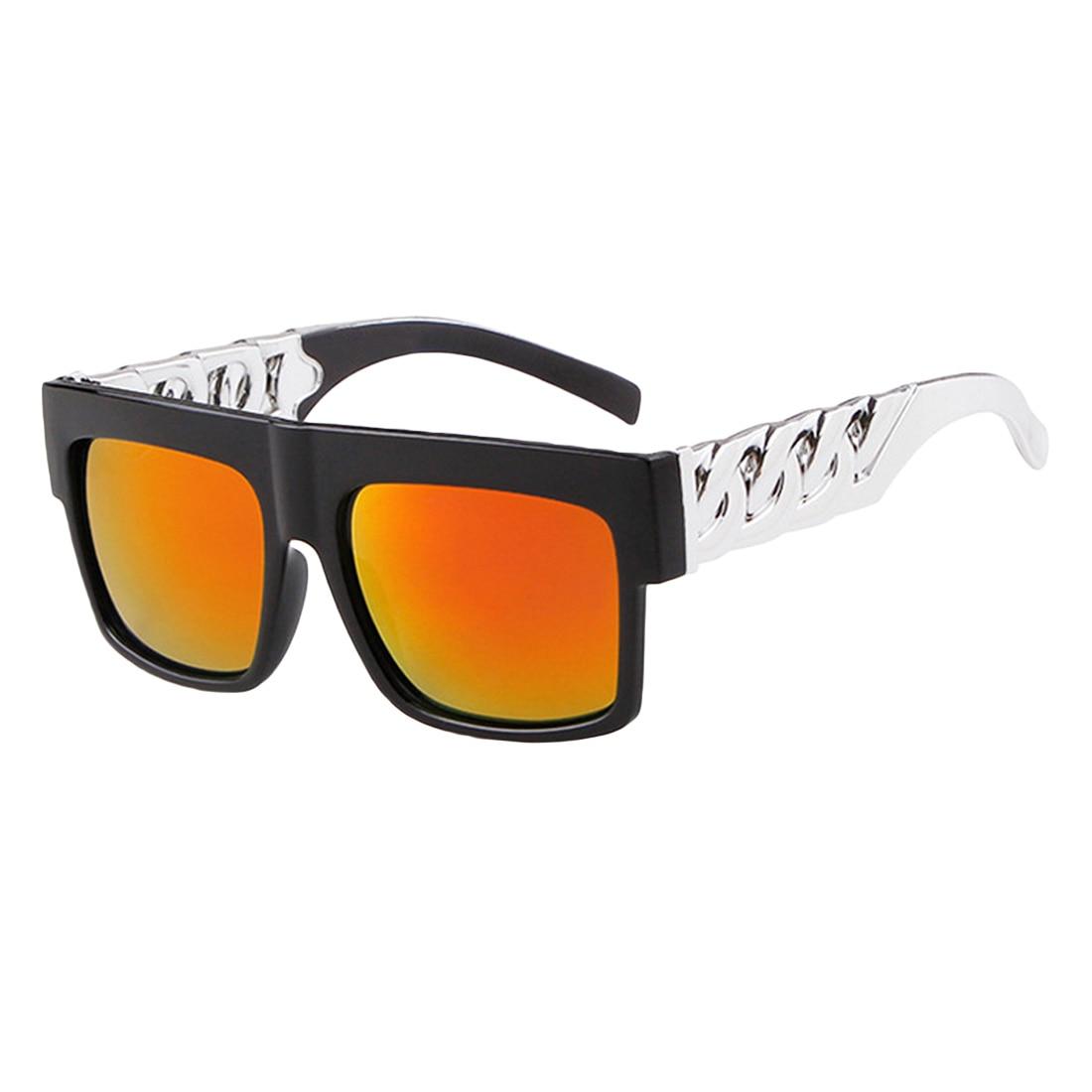 Vintage Gold Metal Chain Sunglasses Fashion Hip Hop Sun Glasses Oculos De Sol women sunglasses lunette soleil femme in Women 39 s Sunglasses from Apparel Accessories