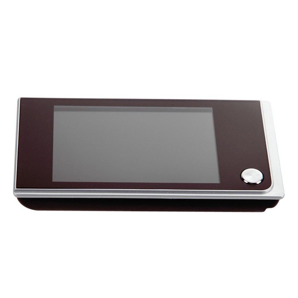 3.5inch LCD Peephole Viewer Door Eye Doorbell Color IR Camera,EU Plug