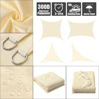 Light Beige Rectangle Square Extra Heavy Duty Shade Sail Cloth Hanger