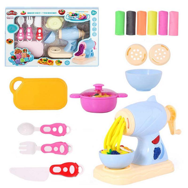 Modèle de pâte à modeler en argile de couleur faite à la main jouets Non-toxique Ultra-léger argile outil ensemble Machine à pâtes pour enfants cadeau
