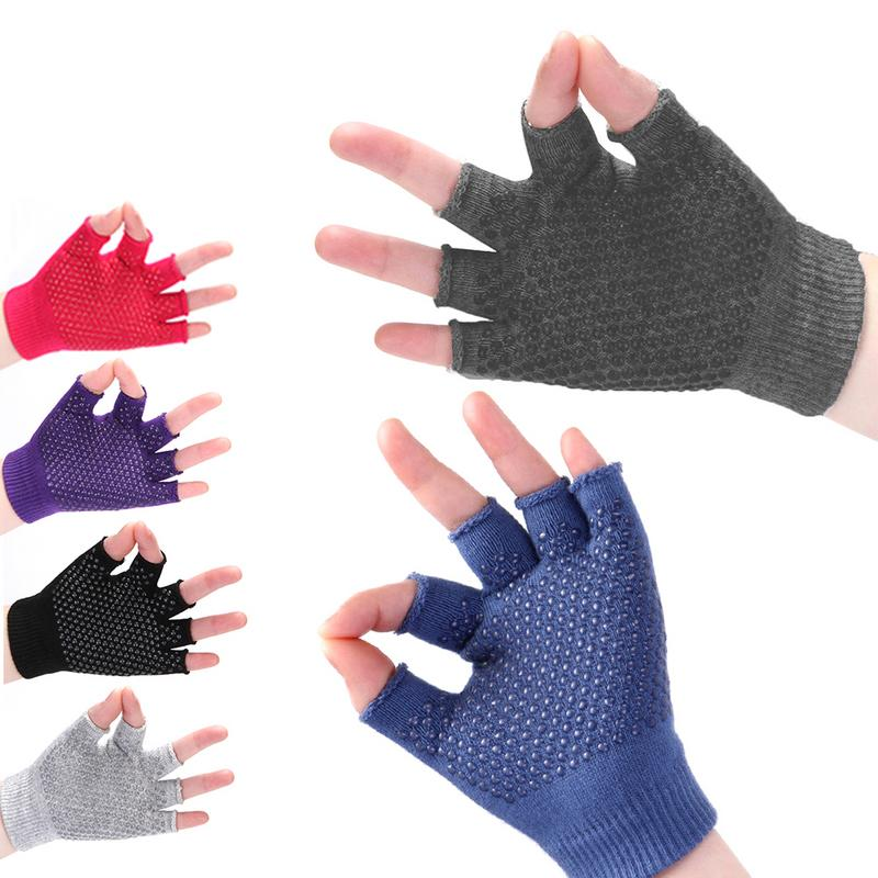 Dot glue Anti-Slip yoga gloves half-finger finger yoga gloves perspiration wear sports Outdoor Running Hiking