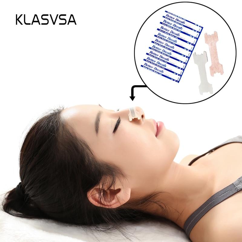 KLASVSA 100 teile/paket Nasale streifen (Klein/Mittel) Besser Atmen Anti Schnarchen Schlaf Schnarchen Reduzieren Aid Geräte Gesundheit schlaf