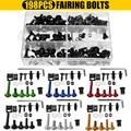 198 шт. универсальные мотоциклетные болты для обтекателя винты гайки комплект крепежных зажимов Sportbike для Honda/Yamaha/Kawasaki/Suzuki
