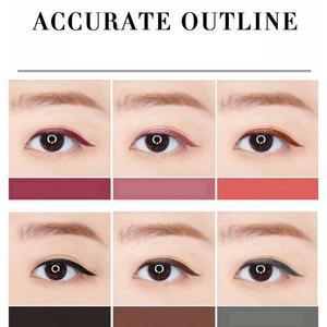 Image 2 - NOVO eyeliner beauty makeup beginners waterproof and sweat not dizzy catch wine red brown liquid eyeliner pen