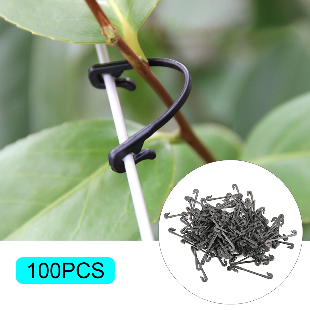 100Pcs Grape Grafting Clips Garden Plant Tied Buckle Fixed Lashing Hook Grape Vine Fixing Clamp Black Garden Planting Tools New