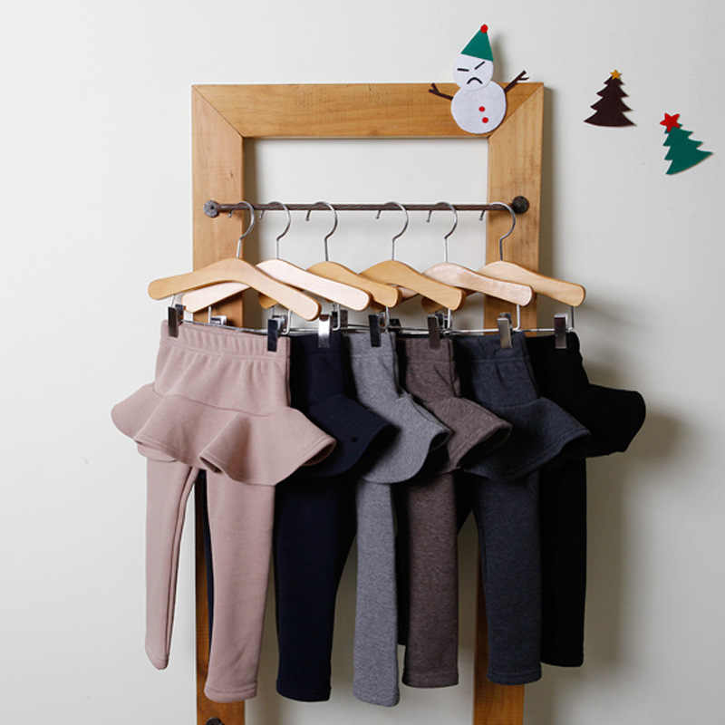 2019 PURE สีกางเกงเด็กกางเกงขายาว 2-10Y เด็กเสื้อผ้าฤดูใบไม้ร่วงผ้าฝ้ายเด็กสาวที่อบอุ่นกระโปรง-กางเกงคุณภาพ
