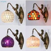 Artpad Mediterranen Stil Dekoration Türkische Mosaik Lampen Handgemachte Glasmalerei Wandlampen Antike Wand Lichter Für Home Beleuchtung-in LED-Innenwandleuchten aus Licht & Beleuchtung bei