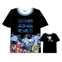 Hot Anime Tensei Shitara Slime Datta Ken T-shirt Short Sleeve Summer dress Cosplay Costumes  Tops Unisex t shirt