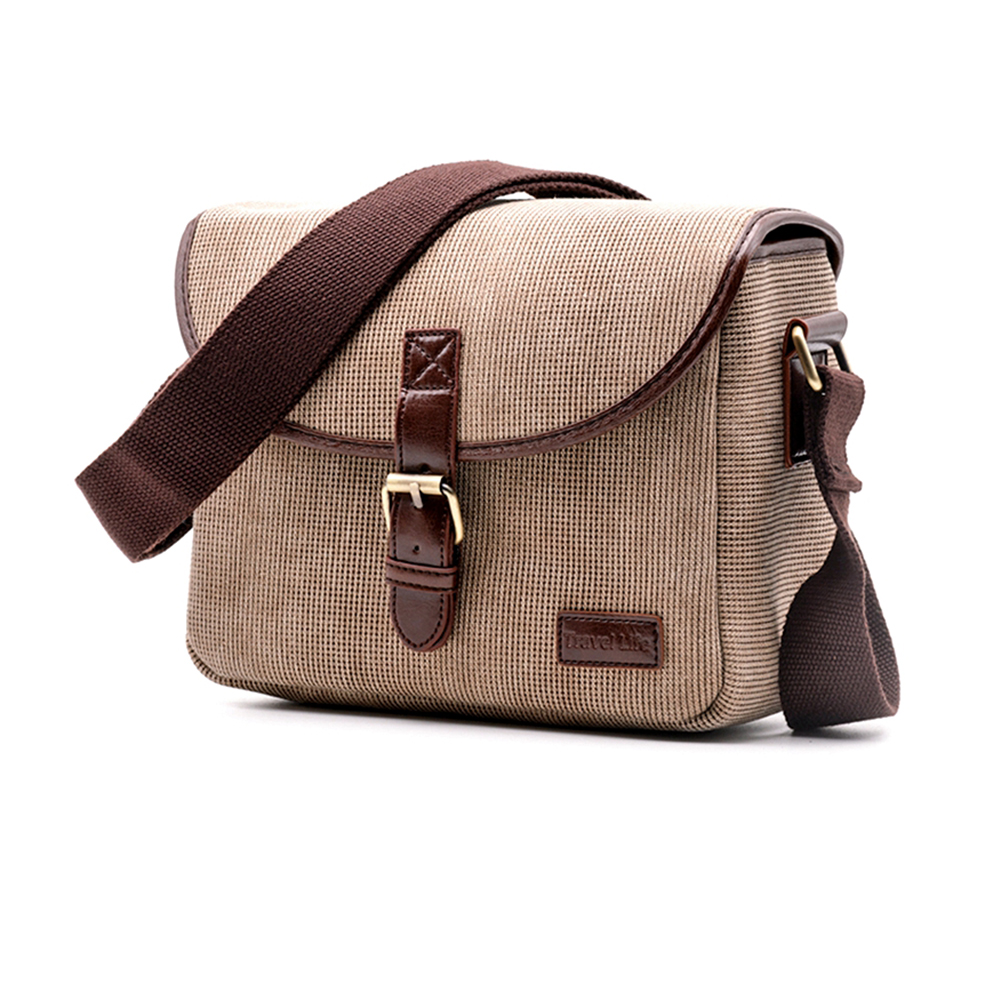 Beige Brown Multi-Purpose Camera Collection Backpack Retro Travel Bag with Rain Cover Canvas Camera Backpack Disassembling Lining Backpack //28 X 20 X 45 Mm Pratical