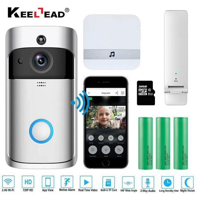 Умный беспроводной Wi-Fi безопасности глаз дверной звонок визуальная запись удаленный домашний монитор ночного видения видеодомофон телефонный звонок дверной звонок