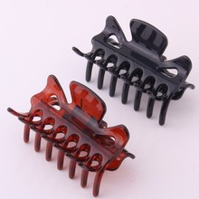 Butterfly Hair Claw Tortie Color Crab For Ponytail Holder Women Strong Bite Force Clamps Accessories 2 Pcs/lot