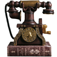 Vintage Telephones Shabby Chic Home Living Room Desk Decoration Maison Accessories Industrial Decor Uae Model Resin Statue