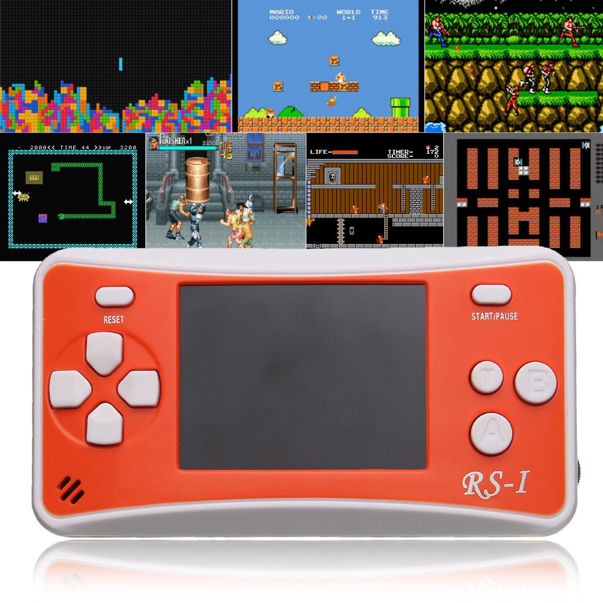 ShirLin Portable Mini Handheld Game Console Portable Video Game Player LCD Enhanced Back BUILT IN 152 GAMES for Kids Gift