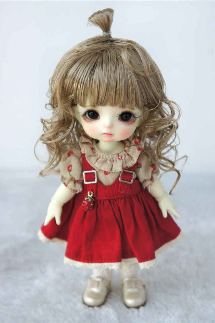JD375 1/8 Lovely Up Style Wave Synthetic Mohair BJD Doll Wigs 5-6 - Қуыршақтар мен керек-жарақтар - фото 3