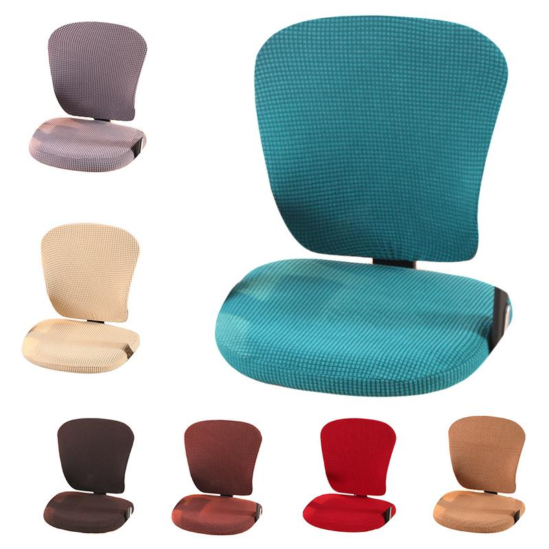 Universal Size Jacquard Chair Cover Computer Office Elastic Armchair Slipcovers Seat Arm Chair Covers Stretch Rotating