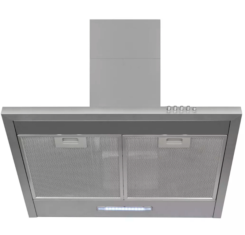 >VidaXL Stainless Steel Powerful Extractor Hood 600 Mm <font><b>Kitchen</b></font> Furniture With Carbon Filter And Vent Pipe High Quality