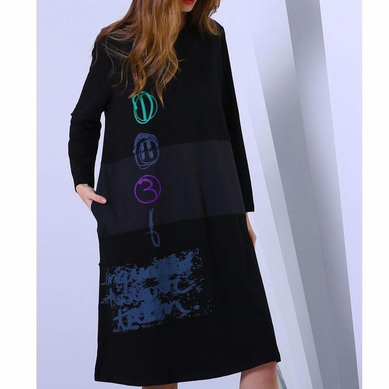 Harajuku Abiti Donna Il Nero Donne Lulu Di Lusso Delle Signore Streetwear Dell'annata Stampati Vestiti Punk Coreano Modo Primavera Max agZUqOg