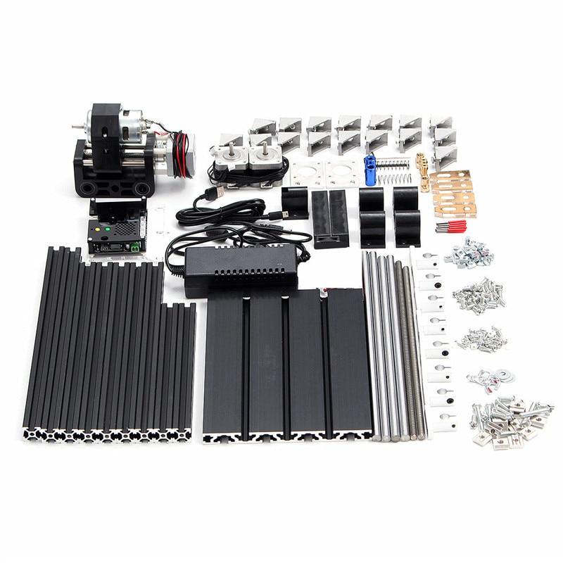 Haute qualité noir 3018 3 axes CNC mobile routeur broche graveur bricolage bois fraisage gravure Machine 300x180mm - 5