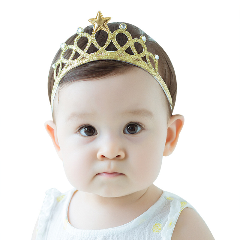 New Children's Hair Belt Quickly Sells Baby Ornaments Crown Headwear Factory Wholesale Baby Girl Hairclips