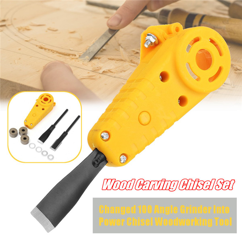 Wood Carving Chisel Set Changed 100 Angle Grinder Into Power Chisel Woodworking Tool Durable