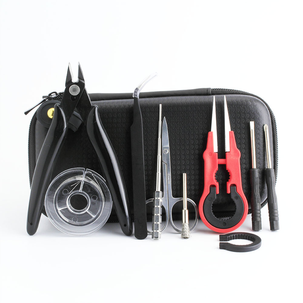 Coil Father Mini Vape Tool Kit Bag Tweezers Pliers Wire Vape Band Coil Jig Cotton DIY For Electronic Cigarette AccessoriesCoil Father Mini Vape Tool Kit Bag Tweezers Pliers Wire Vape Band Coil Jig Cotton DIY For Electronic Cigarette Accessories