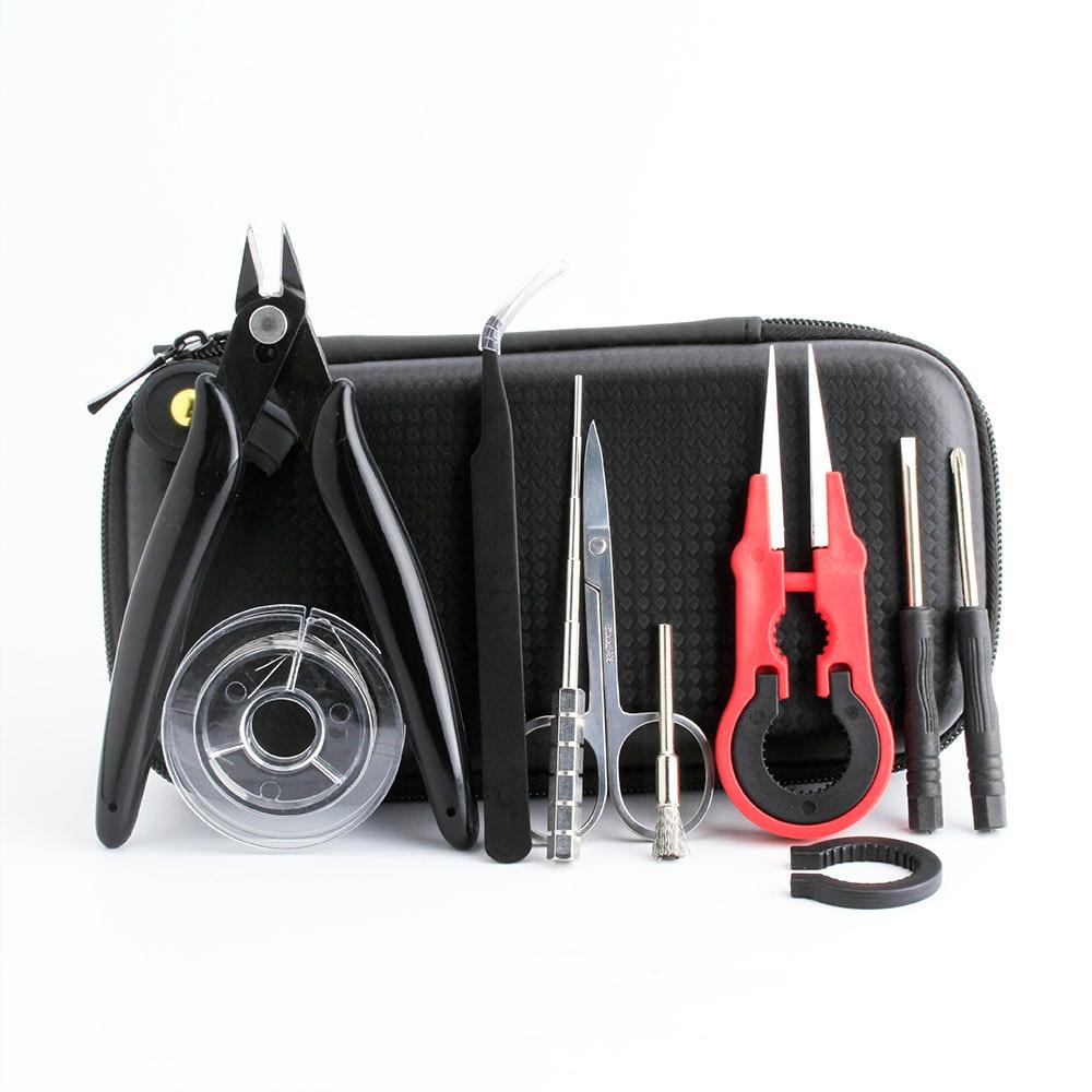 Coil Father Mini Vape Tool Kit Bag Tweezers Pliers Wire Vape Band Coil Jig Cotton DIY For Electronic Cigarette Accessories
