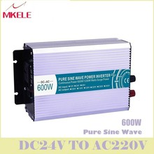 High Quality MKP600-242 600w Inverter 24V DC To 220V AC Pure Wave Micro Voltage Converter Solar Wind Power China ultra boost off grid pure sine wave solar inverter 24v 220v 2500w car power inverter 12v dc to 100v 120v 240v ac converter power supply