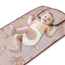 Clearance Sale 2PCS Newborn Children Baby'S Summer Cool Sleeping Mat Baby Bed Pad With Pillow Set(China)