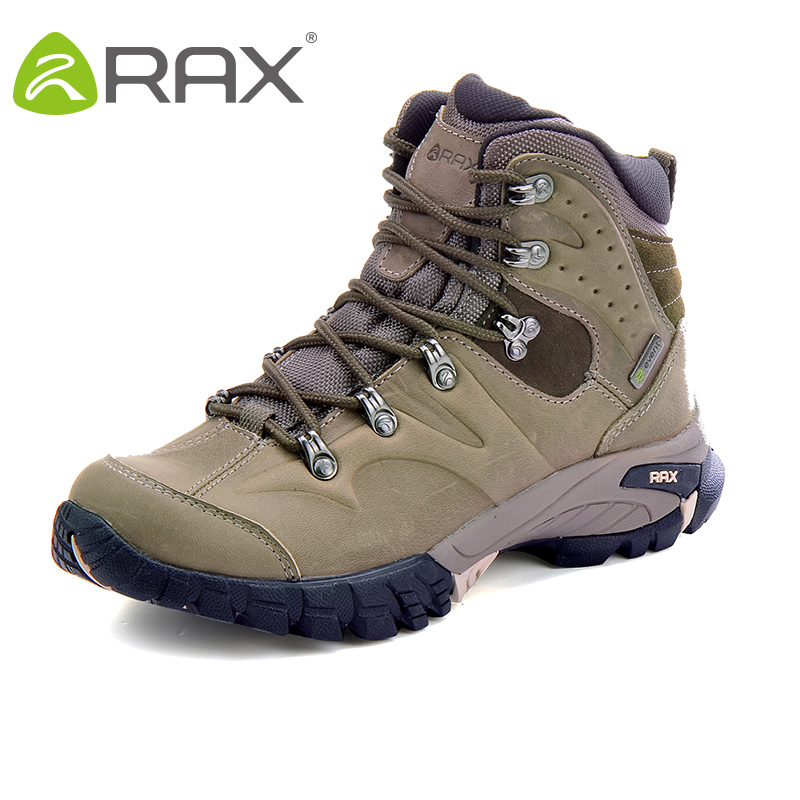 RAX Hiking Boots Men Waterproof Outdoor Sports Sneakers for Men Women Mountain Climbing Shoes men Trekking Shoes Genine Leather|Hiking Shoes| |  - title=