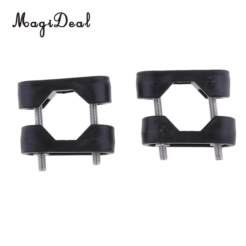 MagiDeal 2Pcs Nylon Marine Boat Nylon Rail Mount Bracket Fits for 7/8' to 1' Tube Kayak Canoe Boat Dinghy Yacht Accessories