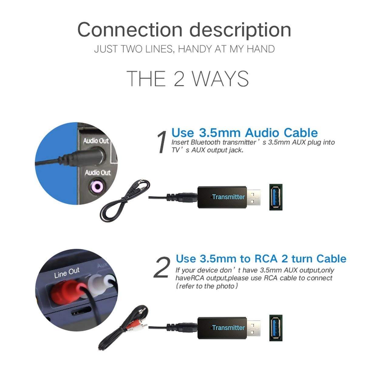 Funkadapter Hart Arbeitend Kn316 Usb Wireless Bluetooth 3,0 Transmitter Mini Tragbare Audio Sender A2dp Musik Stereo Dongle Adapter Tv Pc Mp3 Einfach Zu Schmieren Tragbares Audio & Video