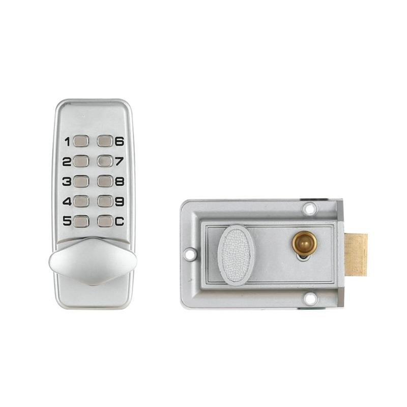 Waterproof Mechanical Digital Door Lock Push Button Keypad Keyless Code Combination Lock Set Intelligent Smart Lock