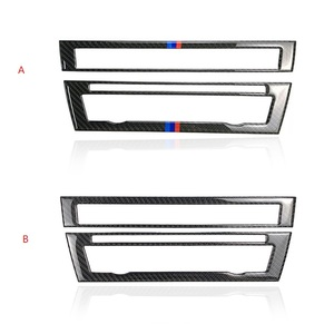 Image 1 - For BMW 5 Series F10 2011 2012 2013 2014 2015 2016 2017 Carbon Fiber Car Front Center Air Conditioning CD Control Panel Cover