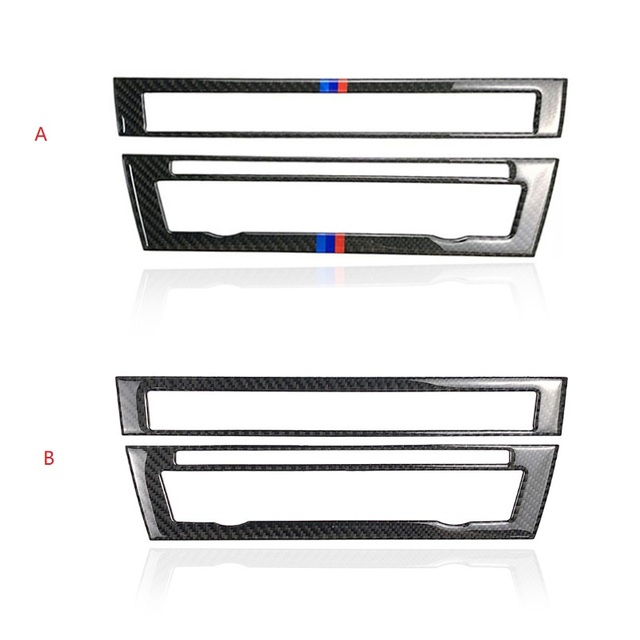 For BMW 5 Series F10 2011 2012 2013 2014 2015 2016 2017 Carbon Fiber Car Front Center Air Conditioning CD Control Panel Cover