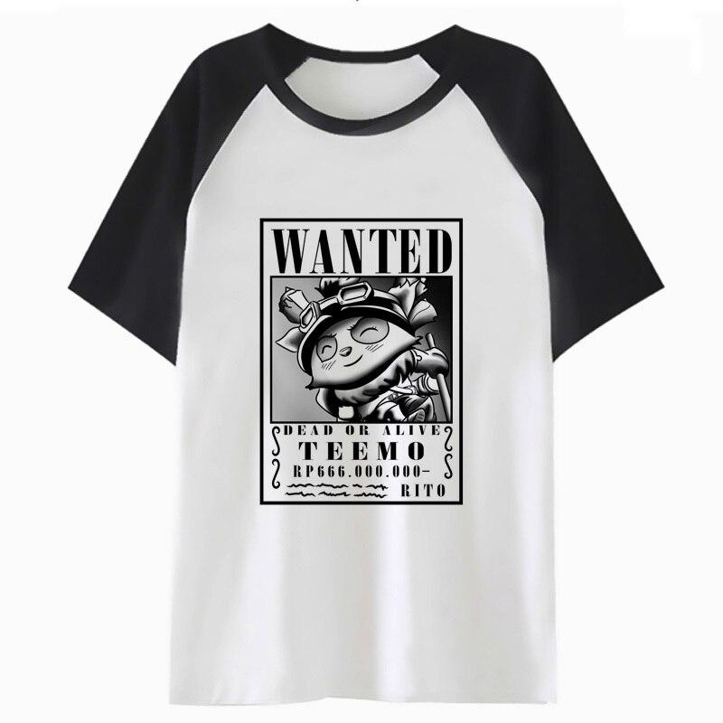 Teemo T Shirt Funny Tee For Hop T-shirt Top Clothing Harajuku Tshirt Streetwear Male Hip Men I4352