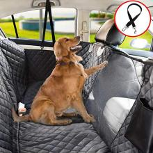 Car Dog Backseat Cover Rear Row Pad Seat for Back with Mesh Window Anti-scratch Anti-slip Pet