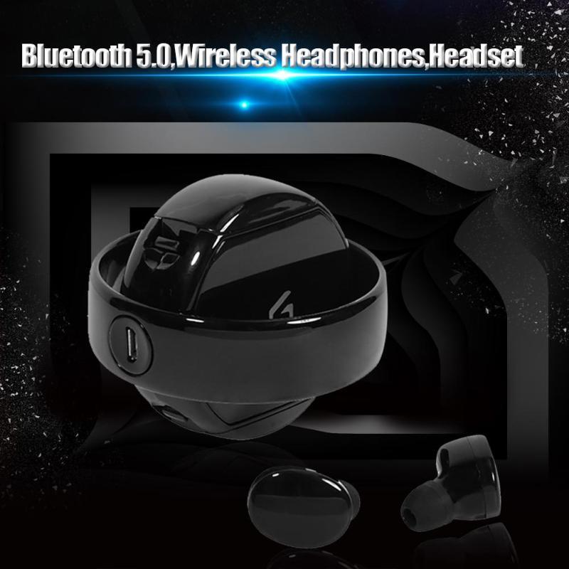 TWS Bluetooth 5.0 Handsfree Earphone 5D Stereo Wireless Earphone Fashion Earphones for Iphone Sport Bluetooth Headset