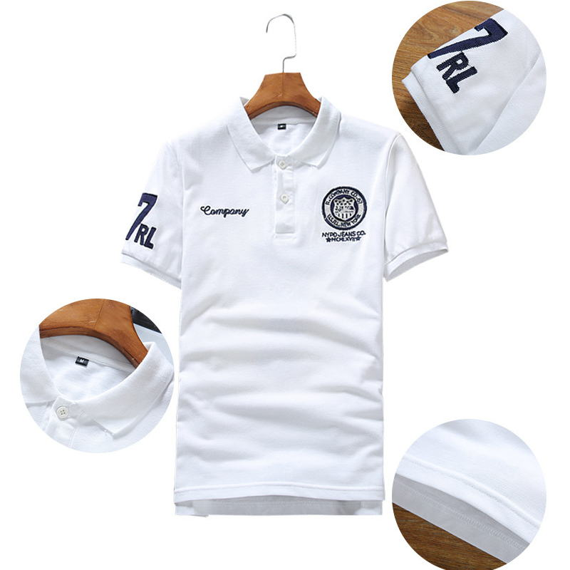 2019 Summer Men's Casual Short-sleeved   POLO   , Comfortable Cultivate one's morality Breathable Fashion Badge Men's   POLO   Shirts