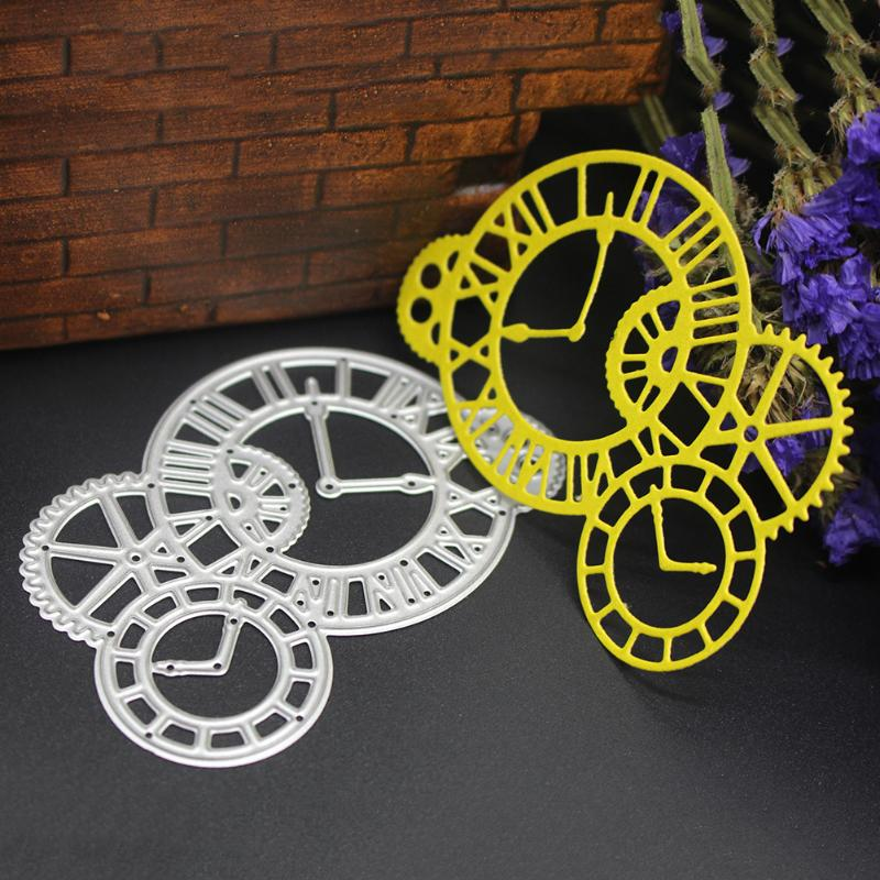 Clock Pattern Metal Cutting Dies Stencils DIY Scrapbooking Paper Cards Hand Template Knife Mold Durable Carbon Bar Accessories