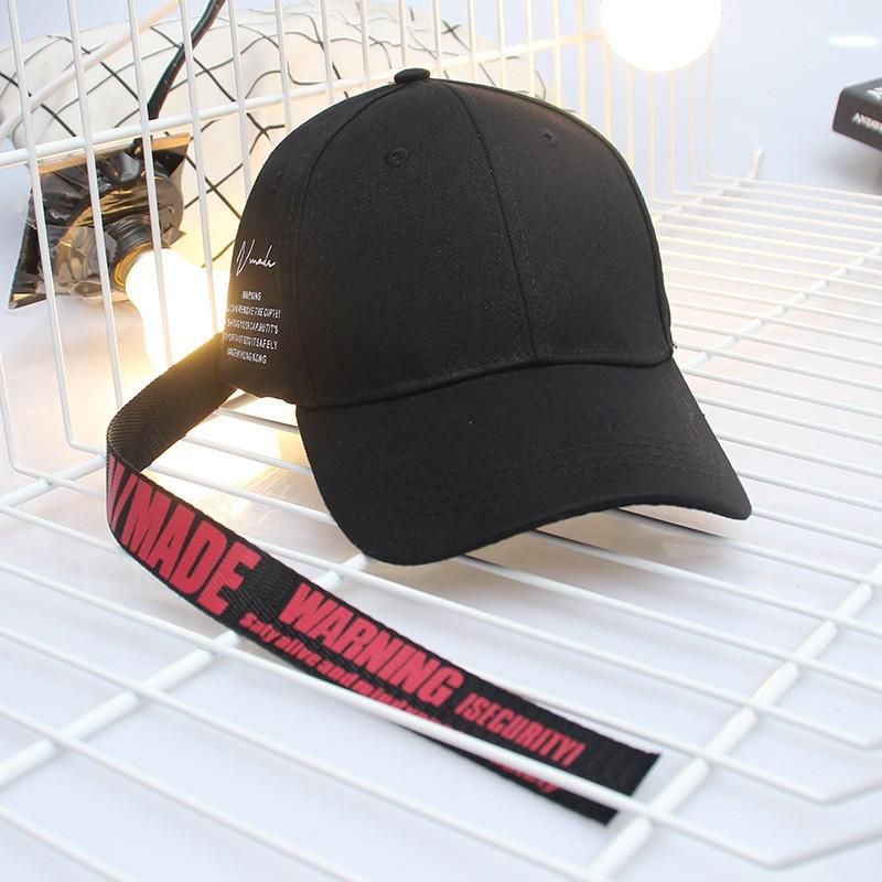 Korean Fashion Men And Women Sun Hat New Pattern Letter Long Tape Hip Hop   Baseball     Cap   Tide Lovers Hip Hop Hat