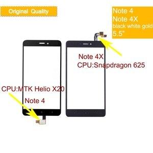 10 шт./лот, оригинальный сенсорный экран для Xiaomi Redmi Note 4, дигитайзер для Redmi Note 4X, сенсорная панель, переднее стекло, сенсорный экран