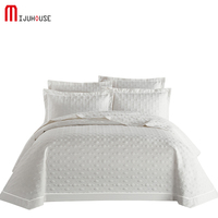 Europe White 245x250cm Bedcover Summer Comforter Coverlet,Home Decor Bed cover+Pillow Case,Blanket Set Quilted Cotton Bedspread