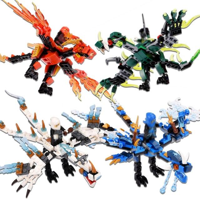 115 pcs + ninja dragon knight blocos de construção iluminai brinquedo para crianças Compatível Legoing Ninjagoes bricks DIY para amigos menino