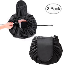 Lazy Makeup Bag Drawstring Cosmetic Bag Portable Quick Pack Travel Makeup  Pouch Case Multifunctional Waterproof Toiletry cf11287184f55