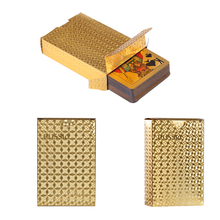Plastic Playing Card 54pcs Russia Waterproof gold playing cards PVC Creative gift Poker cards Plastic durable diamond cards game