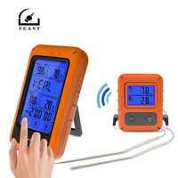 TS-TP20 リモートワイヤレス大 Touchs スクリーン食品温度プローブデジタル温度計タイマーバーベキューオーブン温度計