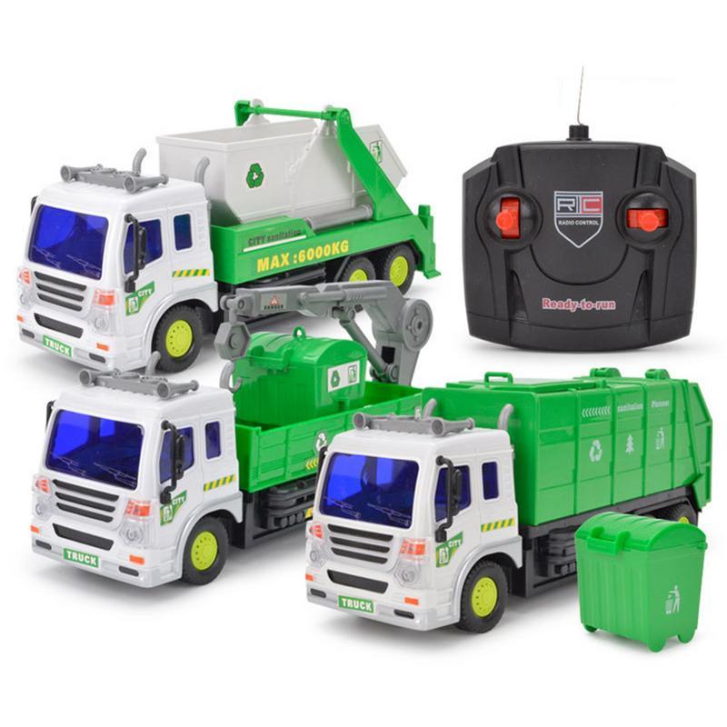 1:16 Large Garbage Truck Toys Kids Clean Car Boys Sanitation Trash Trucks Big Vehicle Alloy Car Model Children Christmas Gift