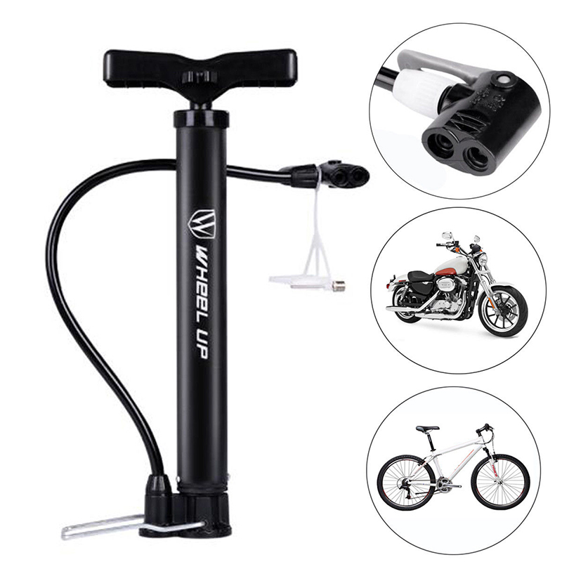 1 * Bike Tire Pump 120 PSI Floor Standing Bike Tire Basketball Pump Motorcycle Tyre Hand Inflator