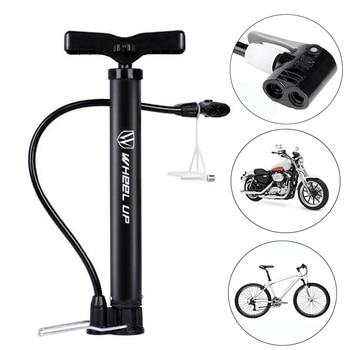 WHEEL UP Bike Tire Pump 120 PSI Floor Standing Bike Tire Basketball Pump Motorcycle Tyre Hand Inflator